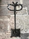 Vintage Cast Iron Smoking Stand with No Glass or Match Holder, As-Is, 28 Inches Tall