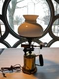 Re Purposed, Antique, Brass Torch into Lamp, Approx. 22 Inches Tall