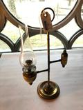 Vintage, Brass, Desk, Student Lamp, 16 1/2 Inch Tall