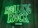 Rolling Rock Neon Beer Light, Working, 20 Tall and 24