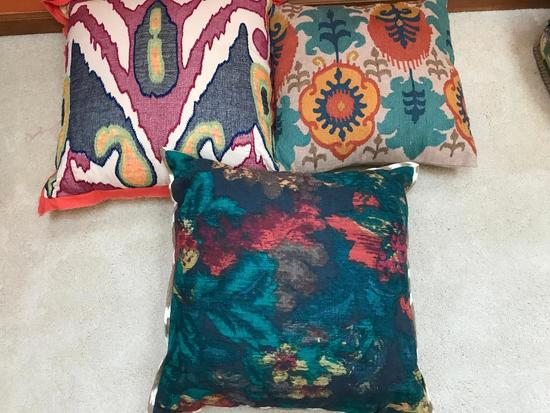Group Of (3) Decorator Pillows