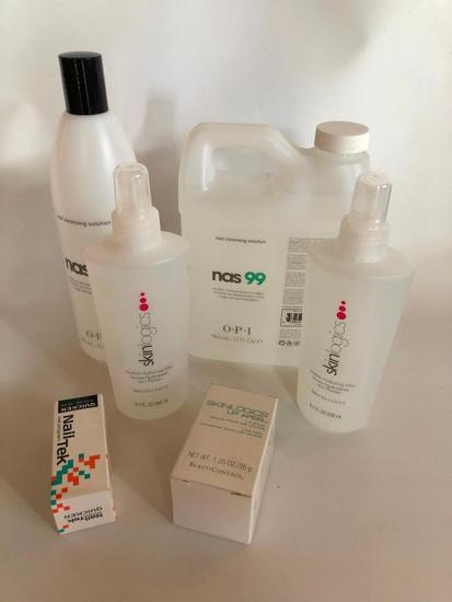 Nail and Skin Care Products, Partially Used, Skinlogics and OPI