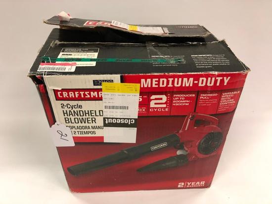 Craftsman 2-Cycle Handheld Blower
