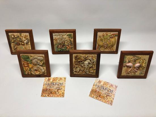 (7) Framed Plaques W/Noah's Ark Theme