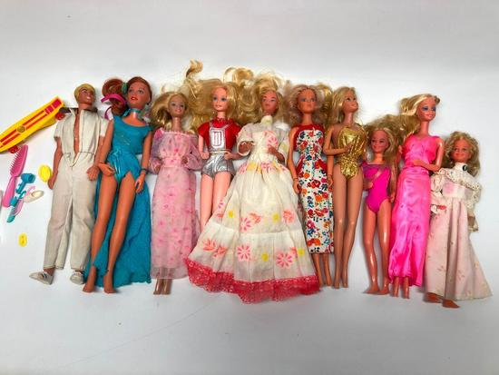(10) Barbie & Similiar Type Dolls