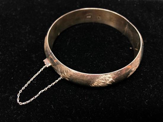 Sterling Bracelet W/Safety Clasp