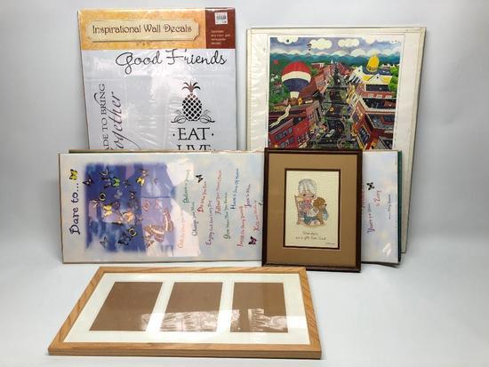 (4) Prints & (2) Frames W/Prints/Photos