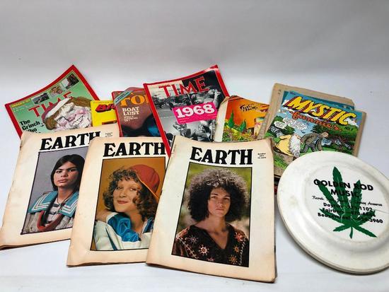 "Vintage 1970s Papere Goods & ""Golden Rod Music"" Frisbee"