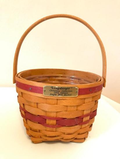 1994 Longaberger Basket, 6 Inches Tall, 8 Inches Diameter
