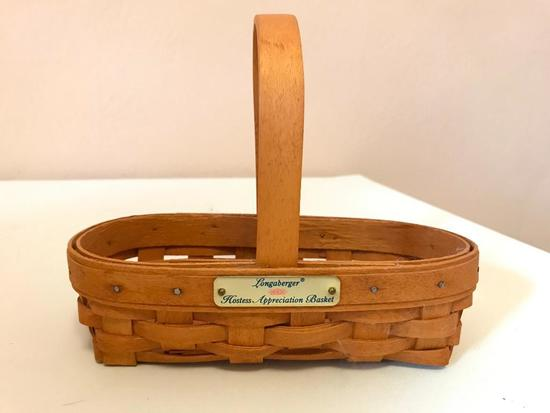 Small Longaberger Basket, 8 Inches Wide