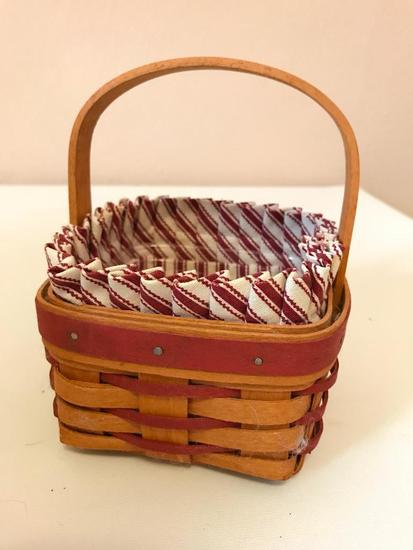 Small Longaberger Basket, 5 Inches Square