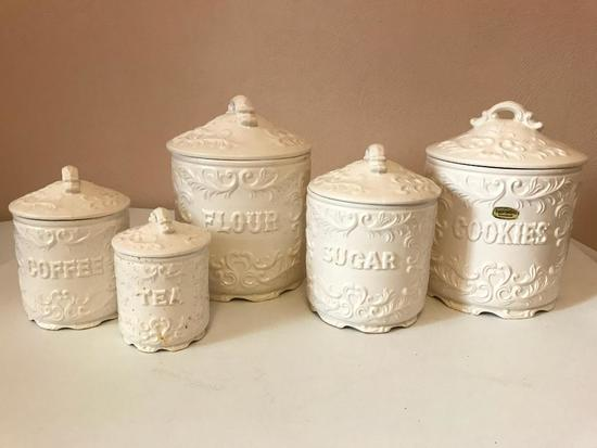 Provincial Napcoware Canister Set with Cookie Jar