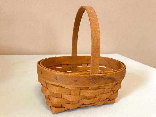 Small Longaberger Basket, Just Over 6 Inches Wide