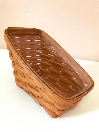 Longaberger Basket, Just over 10 Inches Long