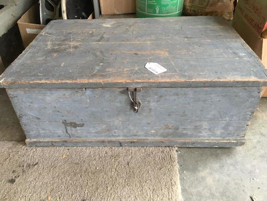 Vintage Wooden Tool Box-Previous Lots Of Tools Were In Here