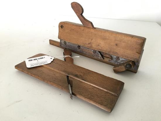 (2) Vintage Ohio Tool Woodworking Moulding Planes