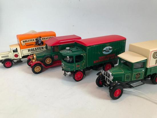 """(4) """"Models Of Yesteryear"""" Advertising Trucks"""