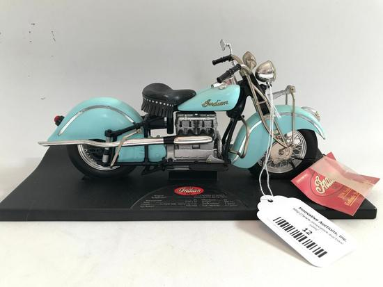 Tootsietoy 1942 Indian Diecast Motorcycle On Stand