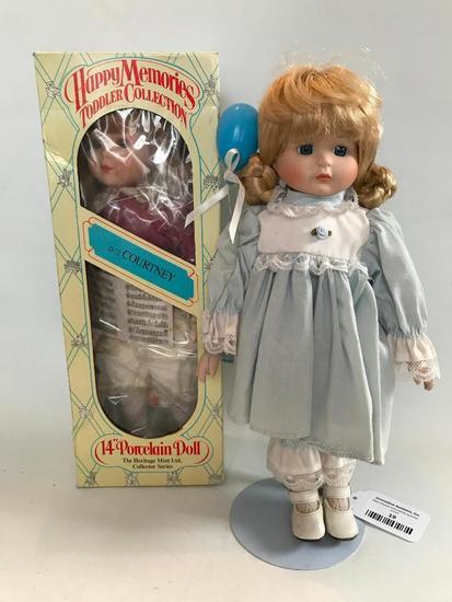 (2) Contemporary Porcelain Dolls
