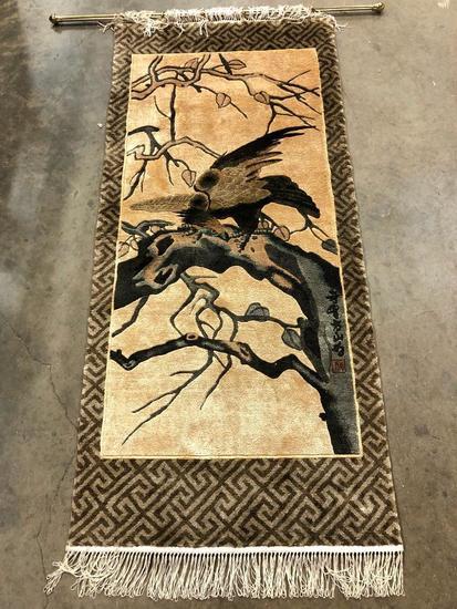 Chinese Silk Handmade Pictoral Rug