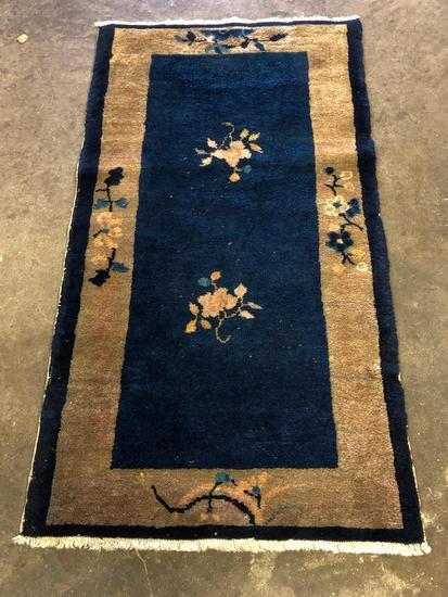 Handmade, Antique Chinese Peking Carpet