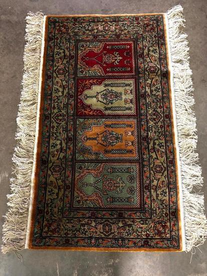 Turkish Mulit Niche Handmade Silk Prayer Rug