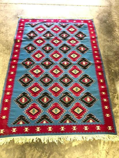 Turkish Handmade Wool Flat Woven Kilim