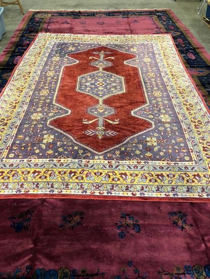 Machine Made Polished Cotton Oriental Designed Carpet