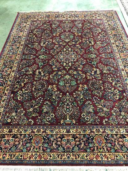 Machine Made Karastan All Wool Sarouk Style Room Size Carpet