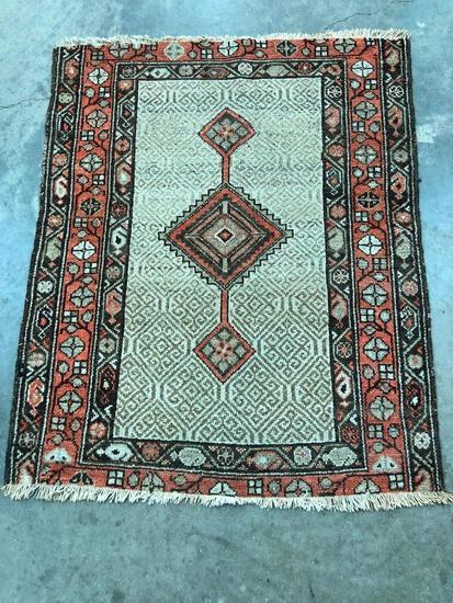 Handmade Camel Hair Serab Rug