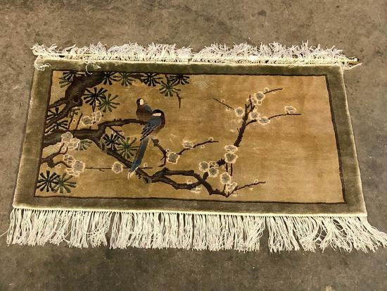 Handmade Chinese Silk Pictoral Rug