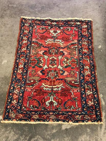 Handmade Persian Hamadan Oriental Rug