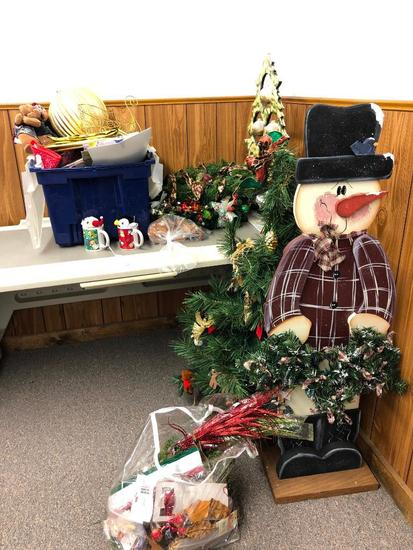 Plastic Desk, Chair and Christmas Items