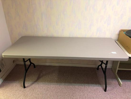 Four, 6 Foot, Plastic Folding Tables
