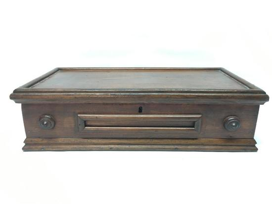 Early Pine Lidded Document Box