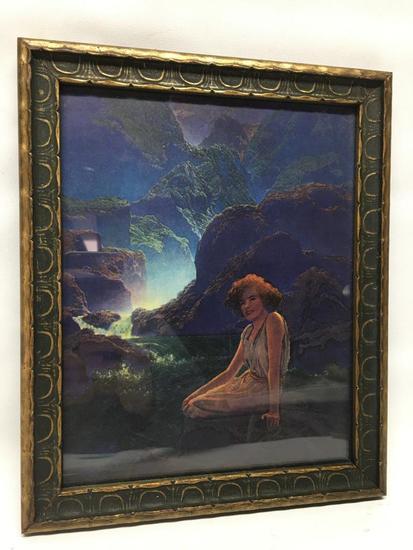Framed Maxfield Parrish Print