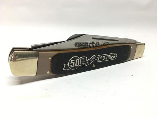 """Over Sized """"Old Timer 50th. Anniversary 1958-2008"""" Store Advertising Knife"""