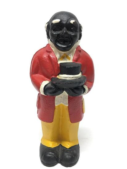 """Cast Iron """"Uncle Mose"""" Figural Bank"""