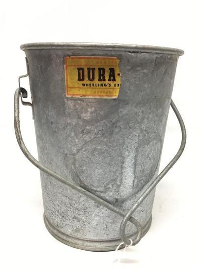 Unusual Galvanized Bucket W/Handle