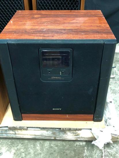 Sony SEN R5400 Amplifier and sub woofer that we can?t get to do anything.