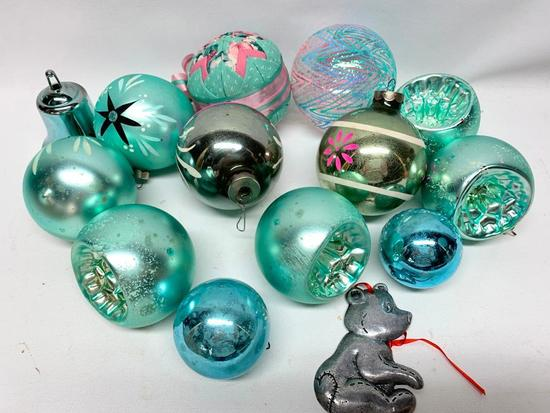 Group Of Vintage Christmas Bulbs + A Few Others
