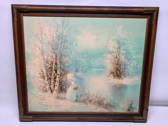 """Framed Oil On Canvas Signed """"S. Darene"""""""