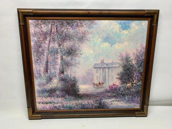 "Framed Oil On Canvas Signed ""F. Raffaelli"""
