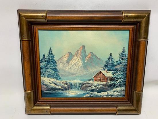 "Framed Oil On Canvas Signed ""K. Kepper"""