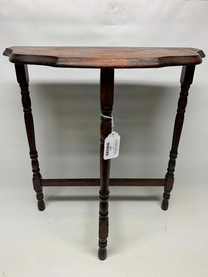 Vintage Wood Half-Moon Table