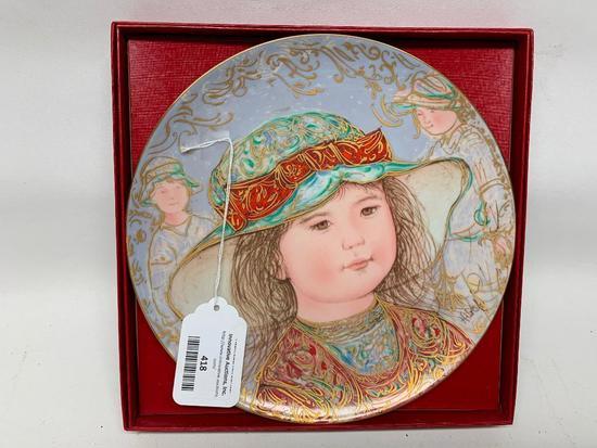 1984 Edna Hibel Collectors Plate W/Box