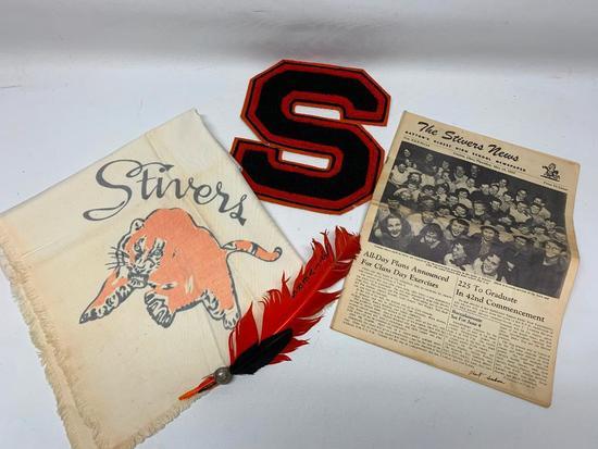 1950's Stivers High School Items-Dayton, Ohio