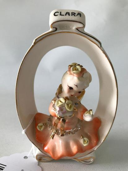 """Geo. Lefton Figurine """"Clara"""" W/Flower Bouquet"""