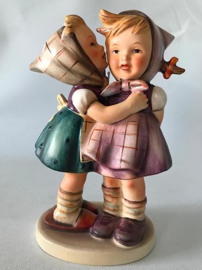 "Hummel Figurine ""Telling Her Secret"""