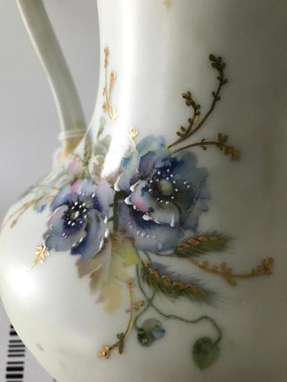 "Vintage ""Silesia"" Porcelain Hand Painted Coffee/Tea Pot W/Handle"